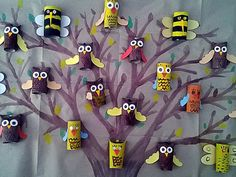 Ez az ötlet - több mint szuper! Fall Crafts, Diy And Crafts, Felt Flowers, Kids And Parenting, Cool Kids, Art For Kids, Recycling, Seasons, Sculpture