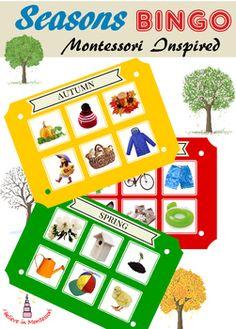 Four Seasons Sorting Activity Seasons Activities, Sorting Activities, Hands On Activities, Learning Cards, Montessori Preschool, Inspired Learning, Science, Montessori Materials, Classroom Inspiration
