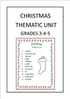 Christmas Thematic Unit (Intermediate) for Very Busy Teachers  http://www.teacherspayteachers.com/Product/Christmas-Thematic-Unit-Intermediate-for-Very-Busy-Teachers-162617