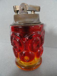 Vintage Color Glass Cigarette Lighter