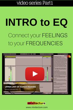 Part1 in this Ableton Live video series will take you from zero experience with EQ's to confidently choosing and using the right one in your music.