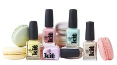 Kit Cosmetics Sweet & Chic Nail Collection www. Artful Dodger, Chic Nails, My Spring, Beauty Trends, Macarons, Aqua, At Least, Nail Polish, Cosmetics