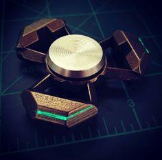 Really nice futuristic type alien looking design fidget spinner! Diy Fidget Spinner, Cool Fidget Spinners, Hand Spinner, Pokemon Go, Fidgit Spinner, Figet Toys, Bug Out Bag, Clay Tutorials, Metal Working