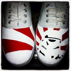 Custom HeyYoMike Star Wars canvas shoes by Michael J. Hall.