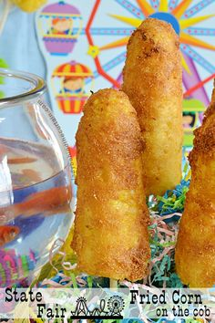 This shop has been compensated by Collective Bias, Inc. and its advertiser. State Fair Fried Co Fried Corn On The Cob Recipe, Deep Fried Recipes, State Fair Food, Carnival Food, Veggie Fries, Corn On Cob, Vegetable Dishes, Corn Recipes, Copycat Recipes
