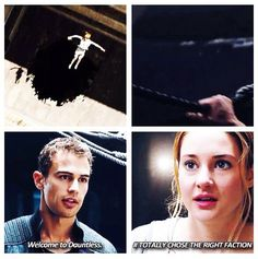 Hahaha #Four #Tris #Divergent  The fact that he stayed just for her really hurts considering what happened to her