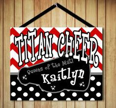 Personalized Custom Name Cheer Spirit Team Canvas 8x10 Sign Board ...