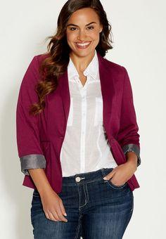 d2592436 Knit Blazer, Blazer With Jeans, Long Blazer, Striped Blazer, Knit Jacket,