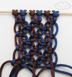 Macrame knot pattern - Photo tutorial (in polish)