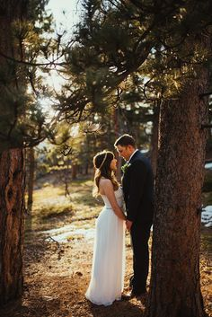 not your typical forest wedding
