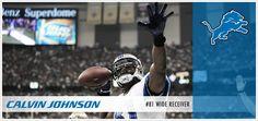 """Detroit Lions Calvin Johnson wide receiver, """"Megatron"""""""