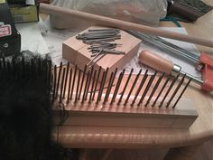 Moonsong Ranch Alpacas and Fiber Arts: How to make a wool comb and hackle set