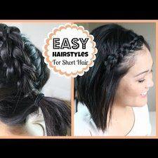 TUTORIAL - Easy Hairstyles for Short Hair! #hairdo #shorthairstyle - bellashoot.com