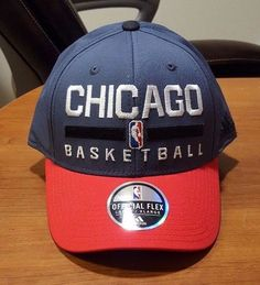 54f4845de50 Chicago Bulls adidas NBA 2015 Practice Flex Cap L X  adidas  ChicagoBulls