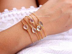 Bezel bracelets. Melania Gorini Jewelry www.etsy.com/shop/melaniagorinijewelry