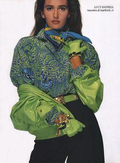 Love the colour combination>> Escada 1980's feat Gail Elliot