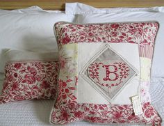 French style Cover cushion monogrammed Pillow by linenartisan, €38.00