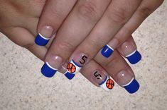 blue and orange basketball solar