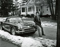 Bruce Springsteen purchased this Corvette in 1975, after the success of Born to Run. Photos of the car have appeared on various album and single sleeves. It will be on display at the National Constitution Center, starting next Friday, February 17. (Photo credit: Frank Stefanko courtesy Bruce Springsteen)