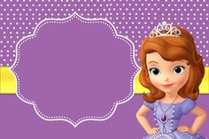 Sofia the First Free Printable Invitations.