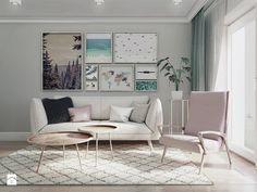 mieszkania Białystok 4 - Mały salon, styl skandynawski - zdjęcie od JUST studio projektowe