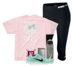 """ Pretty is as pretty does "" by madelyn-abigail ❤ liked on Polyvore featuring NIKE, But Another Innocent Tale and Lilly Pulitzer"