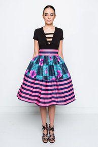 Lola Kitty Striped Skirt