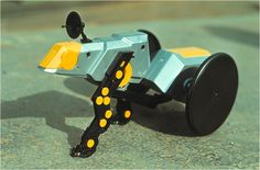 "Rixxor - walking tractor - toy. Created by romanian designer Catalin Urcan for ""Viitorul"" Enterprise (now, Plastor) - city Oradea, Romania in 1985-1988"