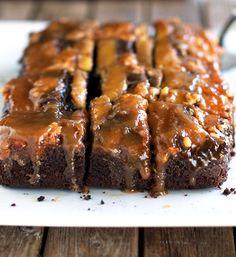 Chocolate Peanut Butter Upside Down Cake