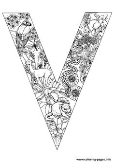 animal alphabet letter v coloring pages printable and coloring book to print for free. Find more coloring pages online for kids and adults of animal alphabet letter v coloring pages to print. Preschool Coloring Pages, Cool Coloring Pages, Animal Coloring Pages, Free Printable Coloring Pages, Coloring Pages For Kids, Coloring Books, Animal Alphabet, Alphabet Letters To Print, Printable Alphabet