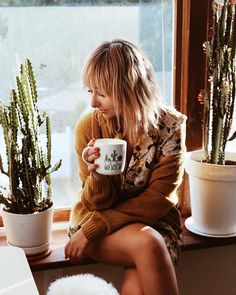 "2,687 Likes, 29 Comments - Nicole Alyse (@nicolealyseee) on Instagram: ""Office mornings ✨ And yes, my coffee mug says crazy cactus lady.. """