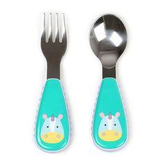Skip Hop Zootensils Fork & Spoon Set, Multicolor