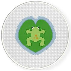 Free Cross Stitch Chart for June 4th 2017 Only - Frog Float http://www.DailyCrossStitch.com/ ** Be Sure To Join Our Mailing List Below and Get a Reminder When New Free Charts Are Available Click HERE to Signup: http://dailycrossstitch.com/optin/ #DMC #Threads #crossStitch #etamin #embroidery #fabric #decorate #pattern #ornament