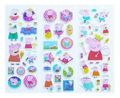 Amazon.com: 12 Sheets Peppa Pig Puffy Stickers Party Favors Stocking Stuffers: Toys & Games