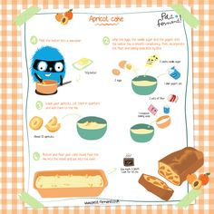 10 minutes Esay Cacke : Easy Recipes for Kids: Apricot Cake Easy Baking For Kids, Easy Meals For Kids, Kids Meals, Easy Cake Recipes, Baking Recipes, Dessert Recipes, Lava, Apricot Cake, Cake Fillings