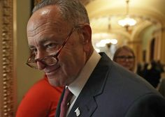 WASHINGTON, DC - NOVEMBER 16:  U.S. Sen. Charles Schumer (D-NY) leaves after an election meeting of Senate Democrats to elect new leadership at the Capitol November 16, 2016 in Washington, DC. Sen. Schumer was elected as the incoming Senate minority leader. (Photo by Alex Wong/Getty Images)