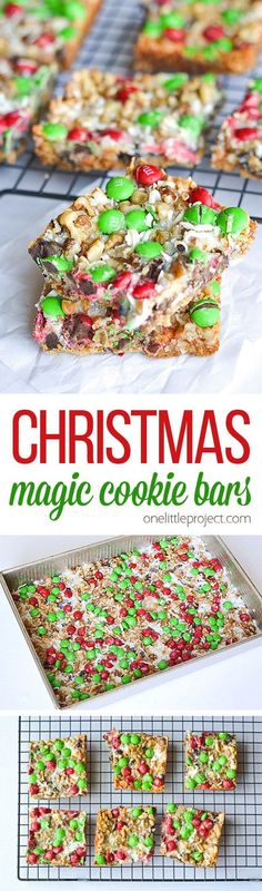 These Christmas magic cookie bars are SO GOOD! And they're so easy to make! Such an awesome family favorite and a delicious Christmas treat...