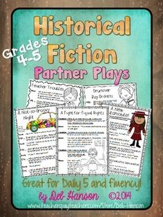 Partner Plays: Historical Fiction -set of 5 scripts for 4th and 5th graders!  $