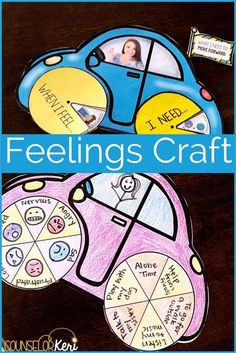 Feelings activity and craft for students to learn more about what they feel and what they need to manage tough emotions. Great for school counseling classroom guidance lesson or small group counseling. Elementary School Counseling, School Social Work, School Counselor, Elementary Schools, Feelings Activities, Counseling Activities, Group Counseling, Leadership Activities, Therapy Games