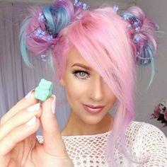Bright Hair Colors, Hair Color Purple, Cool Hair Color, Green Hair, Blue Hair, Periwinkle Hair, Unicorn Hair Color, Lilac Hair, Colorful Hair