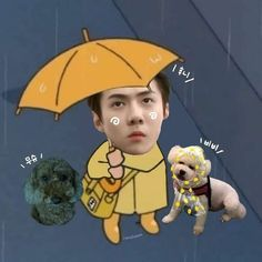 Exo Cartoon, Cartoon Edits, Funny Kpop Memes, Exo Memes, Exo Kai, Exo Chanyeol, Exo Ot12, Kermit, Sehun Vivi