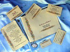 Medieval Renaissance Wedding Invitations Personalised Handmade Paper SAMPLE | eBay