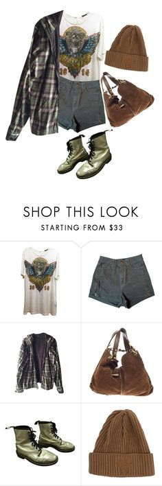 """""""used items set #2"""" by iamcelinenguyen ❤ liked on Polyvore featuring Versace, American Apparel, Burkman Bros., Jimmy Choo and Dr. Martens"""
