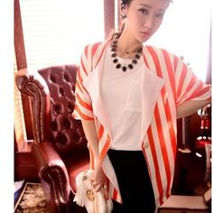"@cs.ordersis's photo: ""Cardigan : CY2649 ORANGE ""Original : china Fabric : Chiffon Bust : Open Sleeve : 40cm clothing long : 72cm 240grams"" Rp85,000  #cardigan #ordersis"""