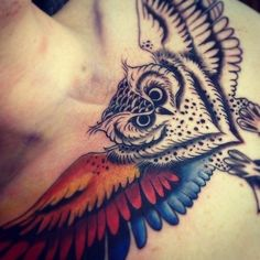 #owl #tatto #color