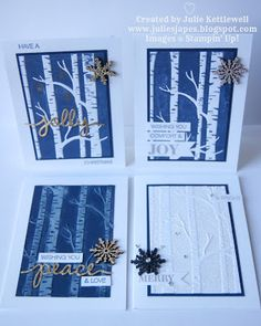 Julie Kettlewell - Stampin Up UK Independent Demonstrator - Order products 24/7: Final Woodland