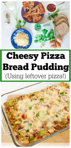 Cheesy Pizza Bread Pudding