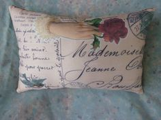 French Pillow Address Postcard from Vintage print w by Maisonvogue, $15.00