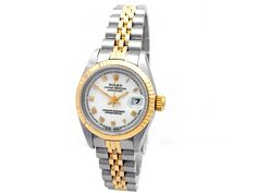 18k Yellow Gold and Stainless Steel. White Roman Numeral Dial. #69173