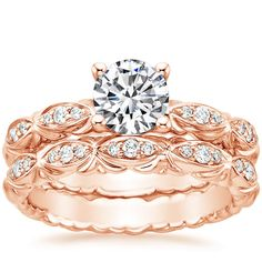 14K Rose Gold Paloma Diamond Ring from Brilliant Earth. Im in love